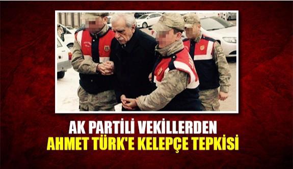AK Partili vekillerden Ahmet Türk'e kelepçe tepkisi