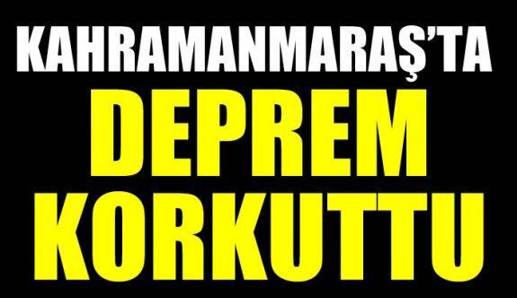 Kahramanmaraş'ta (19 Ağustos 2018) deprem