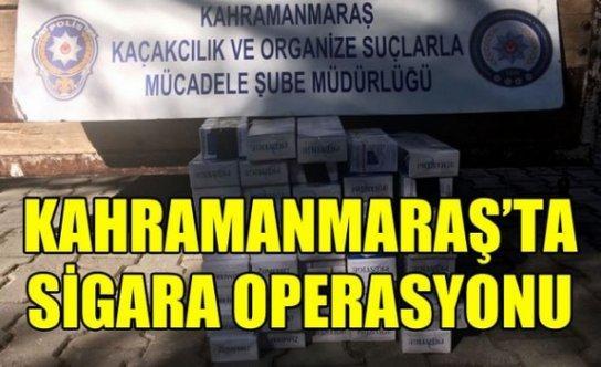 Kahramanmaraş'ta 480 paket gümrük kaçağı sigara ele geçirildi!